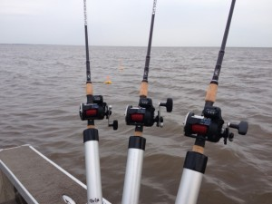 Trolling for walleyes on Saginaw Bay