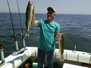 Nice walleye aboard TERMAR Charters