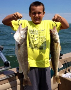 One Proud fisherman on Saginaw Bay