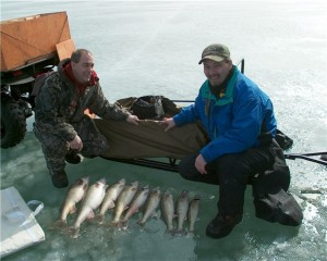 No matter how cold it is. This is the time of year walleye start schooling