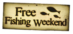 free fishing weekend summer