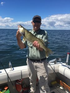 A dandy 5 1/2 lb. Saginaw Bay walleye